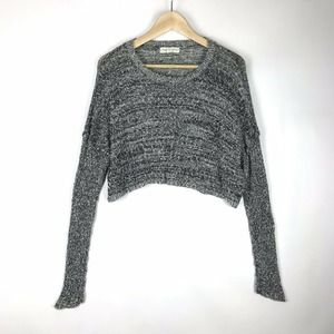 UO Staring at Stars Gray Cropped Sweater